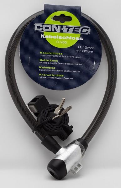 CONTEC Kabelschloss 15 mm x 65 cm