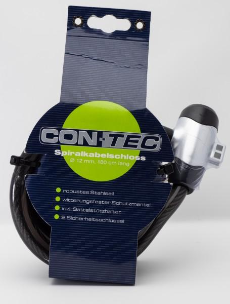 CONTEC Spiralkabelschloss 12 mm X 180 cm