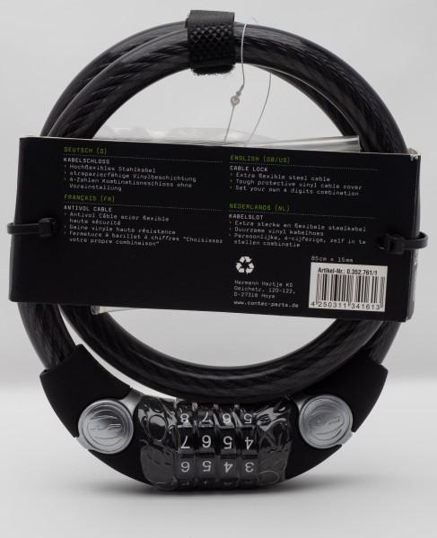 CONTEC Kabelschloss COMBO EcoLoc 85 cm x 15 mm